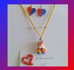 34 - clown polymer clay (fimo) entirely by hand