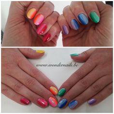 Rainbow nails ❤️