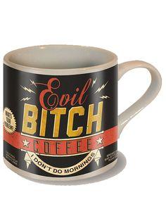 """""""Evil Bitch"""" Coffee Mug by Trixie & Milo #InkedShop #coffee #coffeemug #mug"""