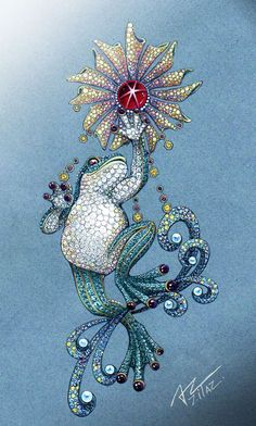 Hi Summer. #azilaz #brooch #frog #handdrawing #handsketch #jewelry #designer #designerjewelry