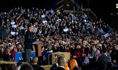 ***WAY TO GO OHIO!!!!!   :)  Mitt Romney showed up in the most most Democrat-populated region of OHIO last night...and stirred up one of the biggest crowds of the campaign. In the cold evening, 12,000 people stood in line to see and hear the Republican nominee for President.