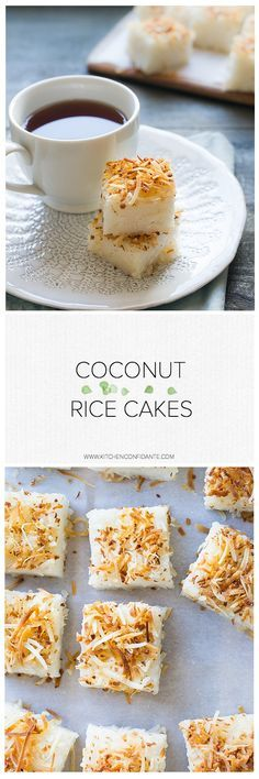 Coconut Rice Cakes -  A simple recipe that uses sushi rice in a sweet way!