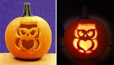 Create IT:  Pumpkin Carving Stencils!  Carve a Charm-O-Lantern with free Pumpkin Carving Stencils inspired by the owl, princess tiara, peace heart flag and heart cupcake charms!