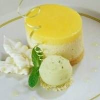 Luscious Individual Vanilla Cheesecakes...with just a touch of lemon zing.
