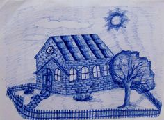 Casa no sol (Caneta esferogr´fica)