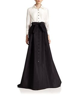 Carolina Herrera - Night Collection Silk Taffeta Trench Gown