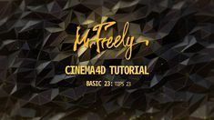 Cinema 4D tutorial_Basic23_TIPS 23 (시네마4D 기초강좌_23강_팁강좌 23) - YouTube