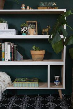 Mid Century Modern Bookshelf Modern Bookshelf by HurdandHoney