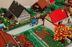 Custom LEGO Suburban Neighborhood