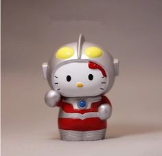 Hello Kitty Ultraman Figure 10cm //Price: $12.99 & FREE Shipping // World of Hello Kitty http://worldofhellokitty.com/1pc-10cm-super-hello-kitty-ultraman-mini-figure-doll-kids-toy-pvc-model-toy-in-stock/    #childrensworld