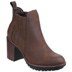 Raegan Gusset Brown Boots