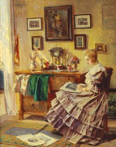 Young Woman in an Interior by Ferdinand Horacek
