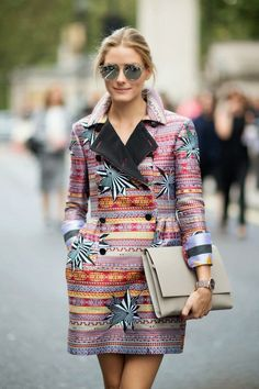 The Olivia Palermo Lookbook : London Fashion Week SS15 : Olivia Palermo at Matthew Williamson