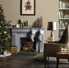 grey + metallic christmas decor