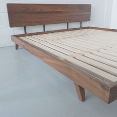 This attention-grabbing Walnut Bed Frame is about to take your bedroom to a whole new level of simple elegance. Home Decor Bedroom, Diy Home Decor, Bedroom Ideas, Bedroom Art, White Bedroom, Bedroom Furniture, Cheap Furniture, Furniture Design, Furniture Online