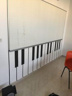 Müzik sınıfı duvar boyaması Music Classroom, Classroom Decor, Music Border, Elementary Music, Creative Teaching, Cosmos, School, Interior, Wall Art