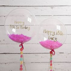 Personalised Happy 18th Confetti Filled Balloon