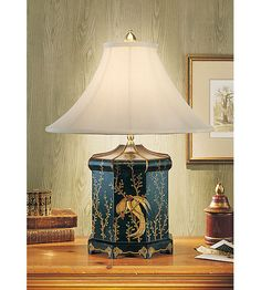 Wildwood Lamps Top Knot Bird Table Lamp In Hand Painted Chinoiserie 7630 |  Wildwood Lighting Lights