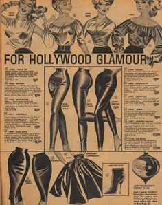 For Hollywood Glamour it's Frederick's of Hollywood circa 1963 1960s Fashion, Look Fashion, Vintage Fashion, Club Fashion, Fashion Tips, Retro Ads, Vintage Ads, Hollywood Glamour, Old Hollywood
