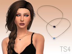 A simple necklace for your female sims!  Found in TSR Category 'Sims 4 Female Necklaces'
