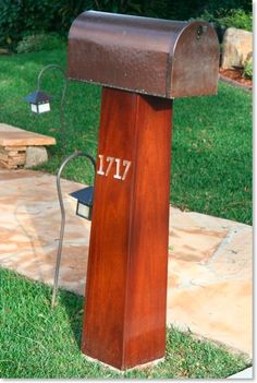 Hammered Copper mailbox - this would be great - except change the 1717 for 906 :)