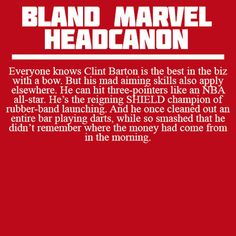 Bland Marvel Headcanons. Accepted as truth