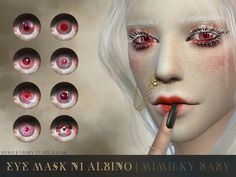 Albino Eye Mask - The Sims 4 Catalog Sims 4 Cas, Sims Cc, Sims 4 Cc Eyes, The Sims 4 Skin, Sims 4 Anime, Sims 4 Characters, Sims 4 Update, Sims Community, Sims 4 Cc Finds