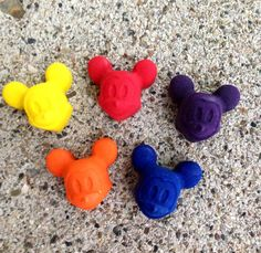 Mickey Mouse Crayons by WhatsYourCrayon on Etsy