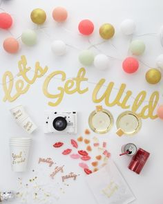 Bachelorette Party Supplies to Pack for Your Ladies' Night - Bridal Showers - Martha Stewart Weddings Bachelorette Party Supplies, Bachelorette Party Decorations, Bachlorette Party, Bachelorette Ideas, Ladies Night, Party List, Martha Stewart Weddings, Wedding Supplies, Event Planning
