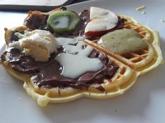 Homemade waffle every day is waffle day [OC] [4128 x 3096]