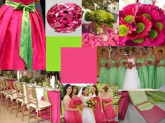 Spring wedding colors? :  wedding colors spring wedding Hot Pink And Lime