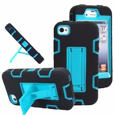 For iPhone 6 Heavy Duty Stand 3 in 1 Defender Armor Case For iPhone 6 6 S 6s Plus PC Hard Plastic Silicone Kiskstand Cases
