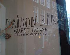 Maison Rika  Oude Spiegelstraat 9  1016 BM AMSTERDAM