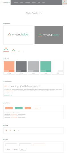 StyleGuide Brand and Web Design for MyWedHelper : Shiera Aryev and Robyn Larsen