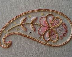 Traditional Jacobean crewelwork stylised pod design, worked in Appletons crewel wools, using a variety of hand embroidery stitches. All materials needed are included in the pack along with full instructions and stitch diagrams. Size 12 x 12cm (5 x 5in).