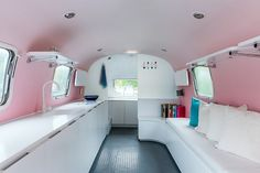 Sleek, modern revamp of an old Airstream trailer.