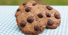 Cookies de aveia e gotas de chocolate