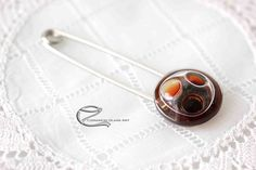 Tie Clip, Brooch, Glass, Accessories, Drinkware, Brooches, Corning Glass, Tie Pin, Ornament
