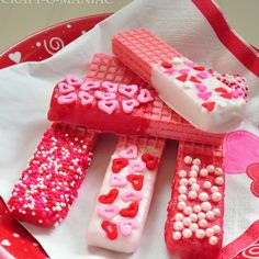 Valentine Dipped Wafer Cookies