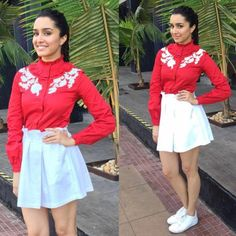 Fashion Faceoff: Jacqueline Fernandez or Shraddha Kapoor, who wore the red turtle neck blouse better? | PINKVILLA
