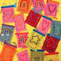 Cassie Stephens: Was der Kunstlehrer # 207 trug - kunst grundschule Summer Arts And Crafts, Arts And Crafts For Adults, Arts And Crafts House, Easy Arts And Crafts, Crafts For Kids, Sewing Projects For Kids, Sewing For Kids, Art Projects, Sewing Art