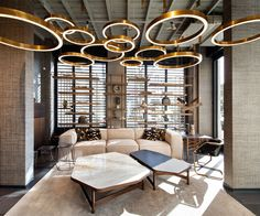 Modern living room - metallic accents are a huge trend