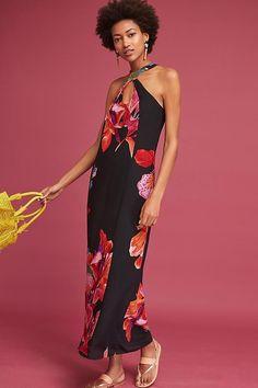 184bcabe9d7 New Anthropologie Cayman Silk Maxi Dress Sz L Size Large NIP by Maeve   fashion