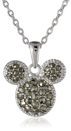 "Disney Mickey Marcasite Pendant Necklace, 18"" Disney http://www.amazon.com/dp/B00FB4B06S/ref=cm_sw_r_pi_dp_P9mEub1F36D53"