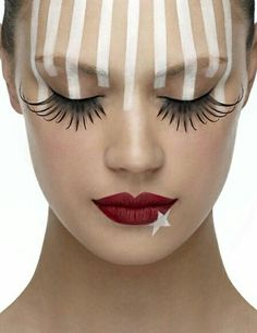 Stars And Stripes Fun Make Up For Halloween Love These Lashes