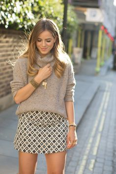 Carolina Bucci In London love the skirt