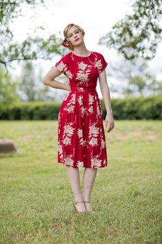 Annie Red Dress - Elise Design   - 1
