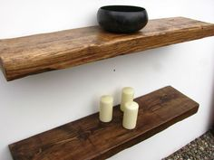 RECLAIMED CHUNKY FLOATING SHELF SHELVES WOODEN . | eBay