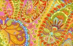 Patsy Thompson Designs: Shop | Category: All Designer Fabrics | Product: GP60 Lime- Paisley Jungle