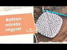 Rattan mintás négyzet horgolása - Pólófonalazz velünk! - YouTube Rattan, Crochet Hats, Youtube, Bread Baskets, Hampers, Wicker, Knitting Hats, Youtubers, Youtube Movies